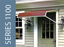 NuImage Awnings Series 1100 Door Canopy With Support Arms