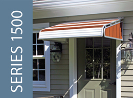 NuImage Awnings Series 1500 Door Canopy With Sidewings