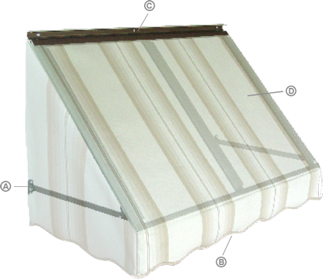 Our Sewn Elastic Tabs Help Keep Your Awning Taut And Flexible On Home